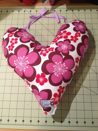 Echo Quilt Progress Heart Pillows For Mastectomy Patients